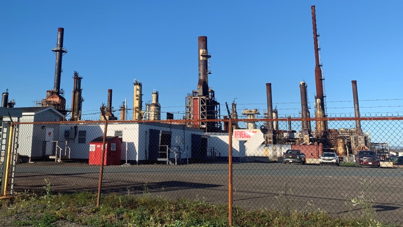 The oil refinery in Come By Chance, N.L. is shown on Tuesday, Oct.6, 2020. Newfoundland and Labrador Premier Andrew Furey says discussions about the future of the oil refinery in are ongoing. THE CANADIAN PRESS/Paul Daly