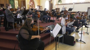 Members of the Timmins Symphony Orchestra began rehearsing in September for their 'Taste of Italy' virtual concert on Nov. 7. Many familiar pieces will be played and sung such as the theme to The Godfather. Oct.24/20 (Lydia Chubak/CTV News northern Ontario)