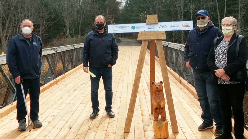 It's restoration costs totaled $33,600 with the conservation authority chipping in $11,600. The rest of the money is coming from a $12,000 grant via The Great Trail along with donations from the South Shore Restoule Snowmobile Club and the Near North Trails Association. Both associations donated $5,000 each.(Photo courtesy of North Bay-Mattawa Conservation Authority)