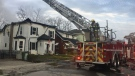 Fire at 68 Hincks St. in St. Thomas Ont. on Oct. 25, 2020. (Brent Lale/CTV London)