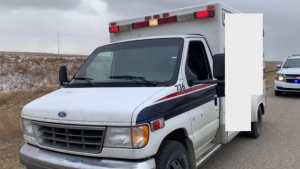 Corman Park police said officers were in the midst of a traffic stop on Highway 5 when an officer saw an ambulance with emergency lights flashing, approaching. Photo by CPPS
