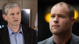 BC Liberal leader Andrew Wilkinson and BC Conservative leader Trevor Bolin.