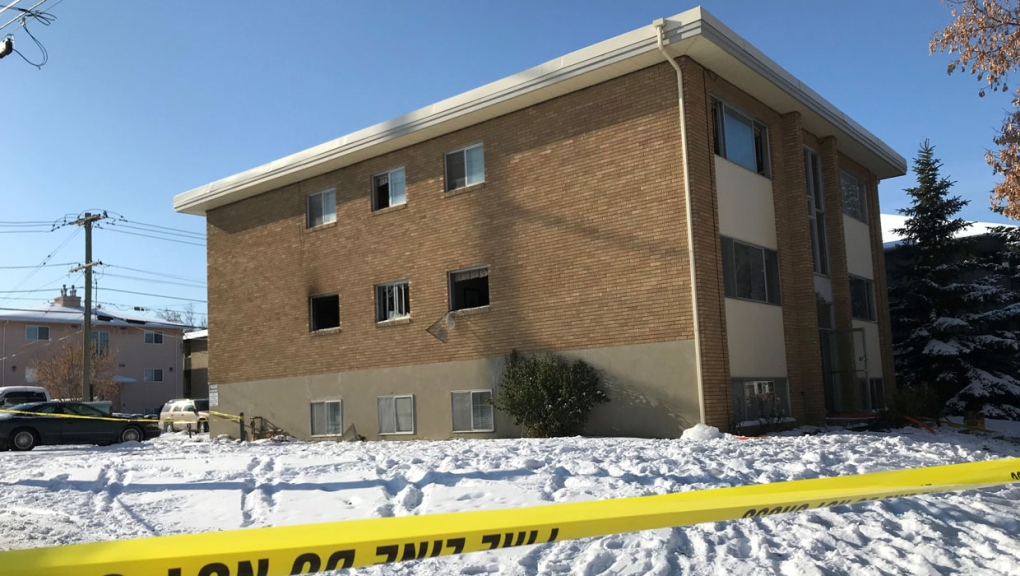 calgary, calgary fire department, apartment fire