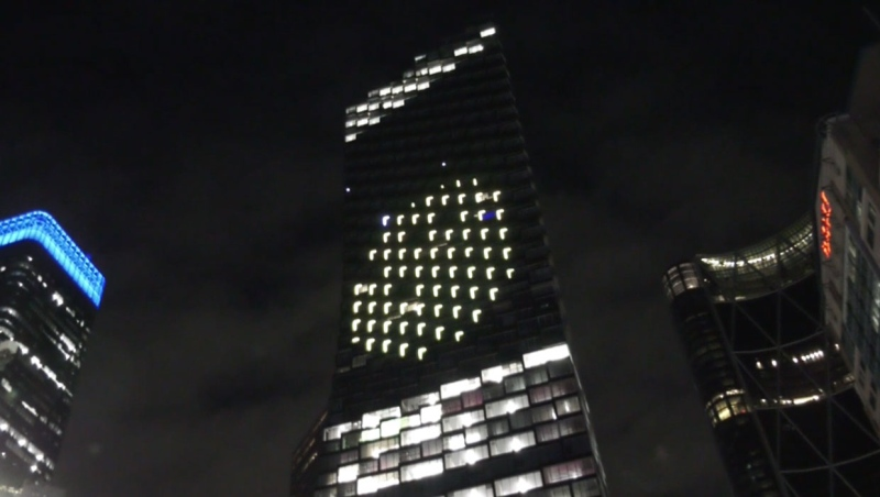 Northern Lights, set up on the TELUS Sky building, is the largest public art display in the city of Calgary.