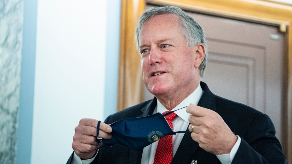 White House chief of staff Mark Meadows said Sunday that the U.S. is 'not going to control' the coronavirus pandemic. (Tom Williams/CQ-Roll Call, Inc. via Getty Images)