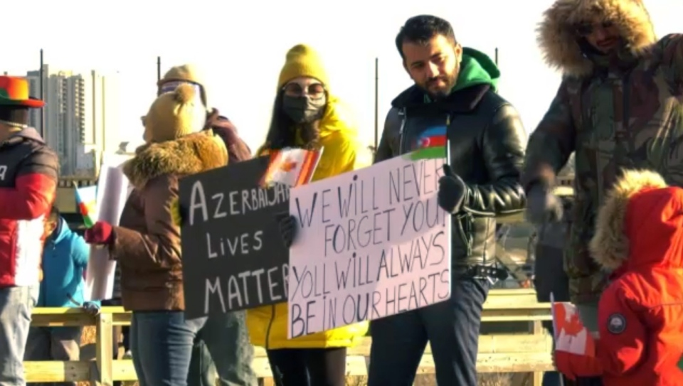 Rally for Azerbaijan in Edmonton.