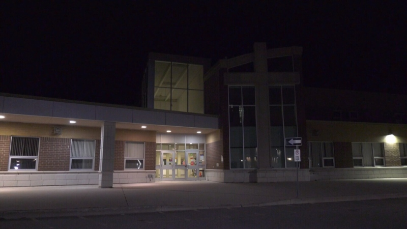 St. Paul's Catholic School in Alliston (CTV Barrie / Chris Garry)
