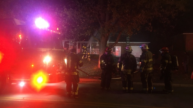 A fire destroys a home in Central Elgin. (CTV News / Brent Lale)