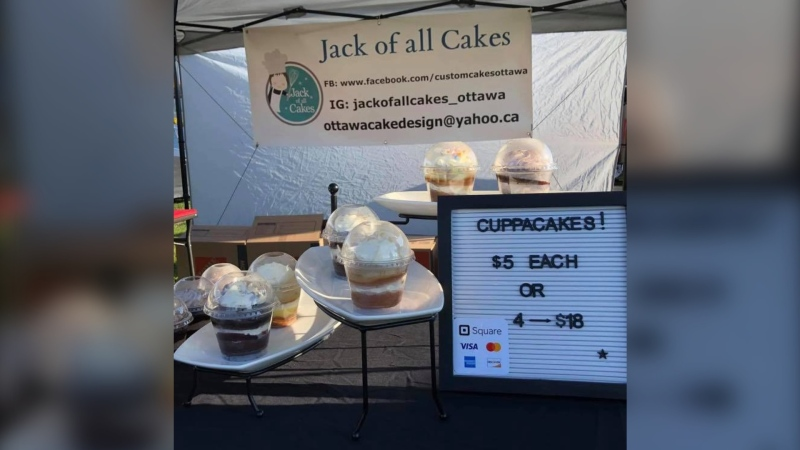 Charlene Burnside says a mistake in using an electronic payment system meant she didn't get paid for $2,000 worth of sales at the Richmond Farmers' Market. The community, however, rallied to raise more than the money she was short. (Photo via Jack of All Cakes / Facebook)