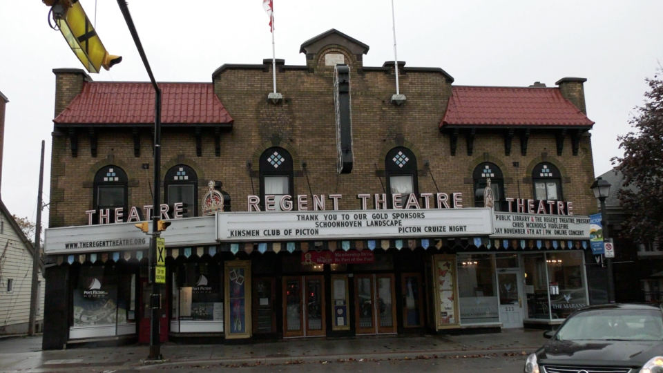 Regent Theatre in Picton, Ont.