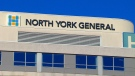 The exterior of North York General Hospital is seen.