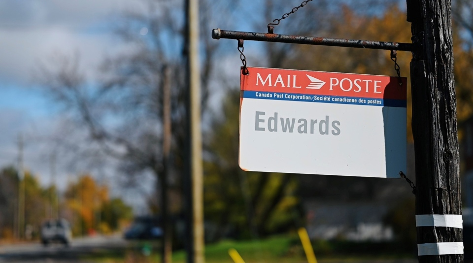 Edwards Post office sign