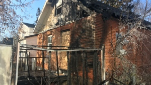 A deliberately set fire was responsible for thousands of dollars in damage to a vacant home in the city's Pleasant Hill neighbourhood, according to Saskatoon Fire Department (SFD). Chad Leroux/CTV Saskatoon