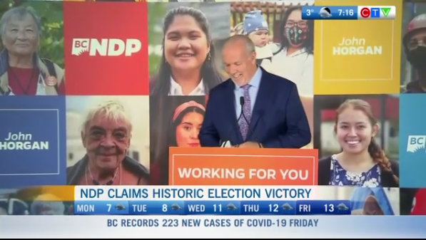 NDP historic election win