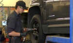 Although there hasn't been a significant snow fall yet, Kal Tire in North Bay has been busy with appointments making sure that everyone is safe for when the snow is here to stay. (Alana Pickrell/CTV News)