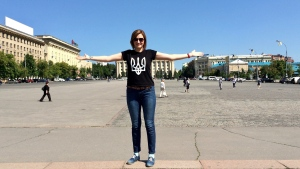 Matsiuk in Ukraine where she voted a few times before moving to Saskatoon.  (Courtesy Iryna Matsiuk)