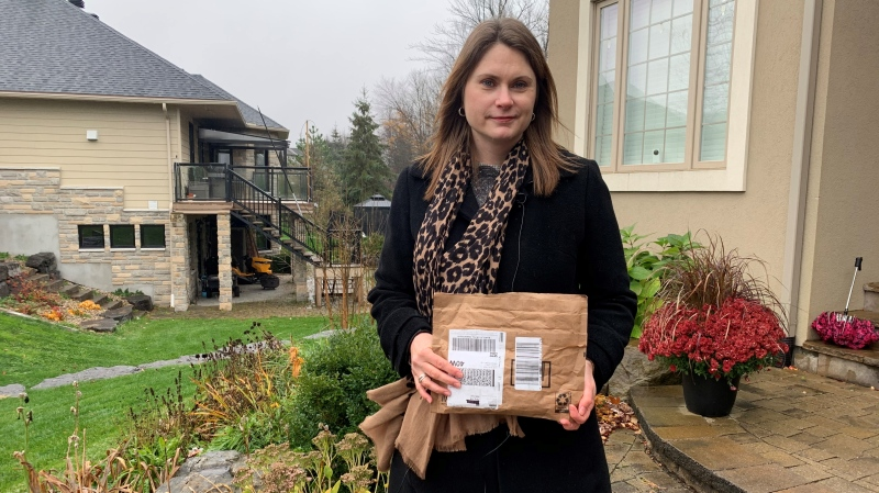 Amy Eves says she discovered several unauthorized transactions on her credit card for inappropriate items addressed to her nine-year-old daughter. This began happening shortly after learning of a security breach affecting the Girl Guides of Canada. (Saron Fanel / CTV News Ottawa)