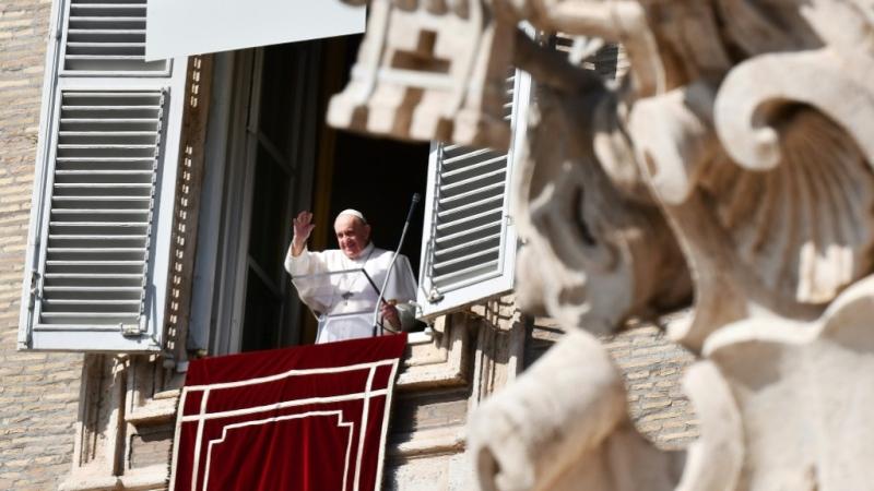 Pope Francis is pictured on Sunday, Oct. 25, 2020. (AFP)