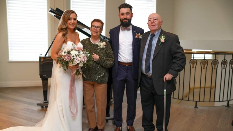 Sasha Lopez and Marc Orquin were able to reschedule their wedding in four days (Courtesy: Ronnie Lee Photography)