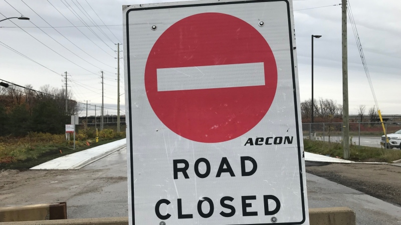 Crews in the City of Barrie prepare for more road closures as a new development is in the works. (Rob Cooper/CTV News)