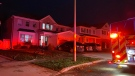 Fire crews respond to a fire in Cambridge on Oct. 26, 2020 (Terry Kelly / CTV News Kitchener)