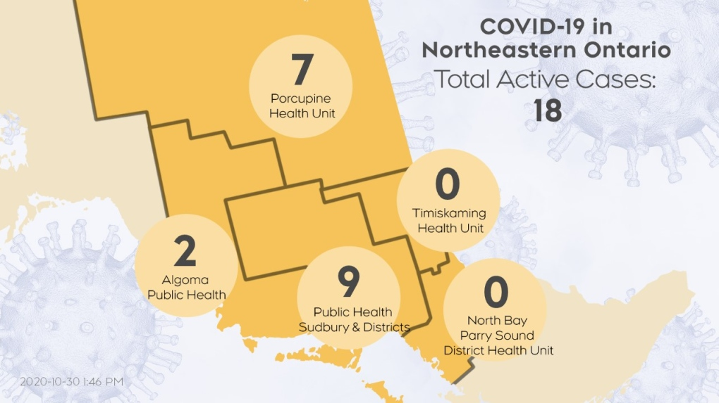 Northeastern Covid Map October 26
