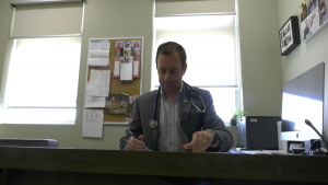 Dr. Gregory Sawisky, a doctor at the Battle River Medical Clinic, says the Ponoka-area facility has eight family doctors and needs 12 to serve the community, but can't find the physicians to go there.