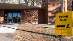 Saskatchewan Elections polling station in Shellbr