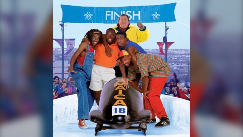 The sled from the film Cool Runnings was stolen from Ranchman's, the iconic honky-tonk in south Calgary that closed down in the pandemic, this weekend. (Photo courtesy Twitter/New Beverly Cinema)