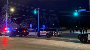WRPS officers on scene near Ottawa Street and International Place in Kitchener after receiving reports of shots fired.