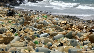 More than one million tonnes of plastic have already accumulated in the Mediterranean Sea, the report estimates. (AFP)