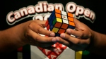 Brandon Yepez, 12, competes during the first ever Rubik's Cube Canadian Open in Toronto, on May 19, 2007. (Nathan Denette / CP)