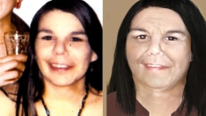 Police have released a photo of Abotossaway when she was 18 years old, as well as an artist renditions of what investigators believe she would look like today. (Supplied)