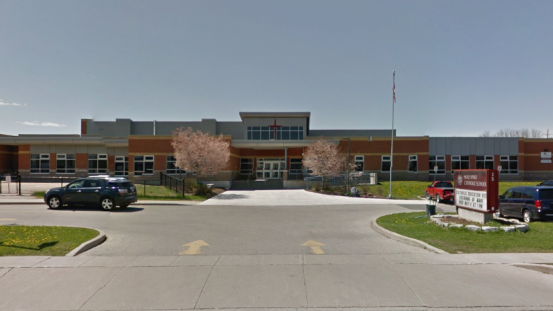 Holy Spirit Catholic Elementary School has reported two cases of COVID-19. (Source: Google Maps)