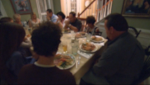 family gathering, blurred,