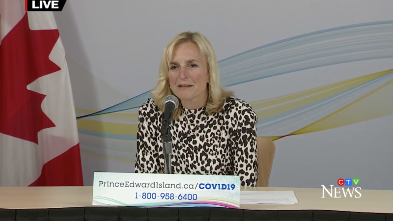 P.E.I.'s Chief Public Health Officer Dr. Heather Morrison gives an update on COVID-19 in the province on October 27, 2020.