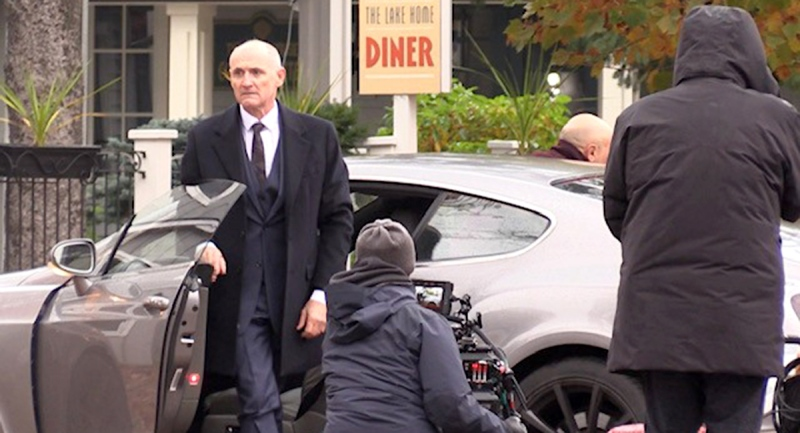 Colm Feore is on set as the movie 'Trigger Point' films in Bayfield, Ont. on Monday, Oct. 26, 2020. (Scott Miller / CTV News)