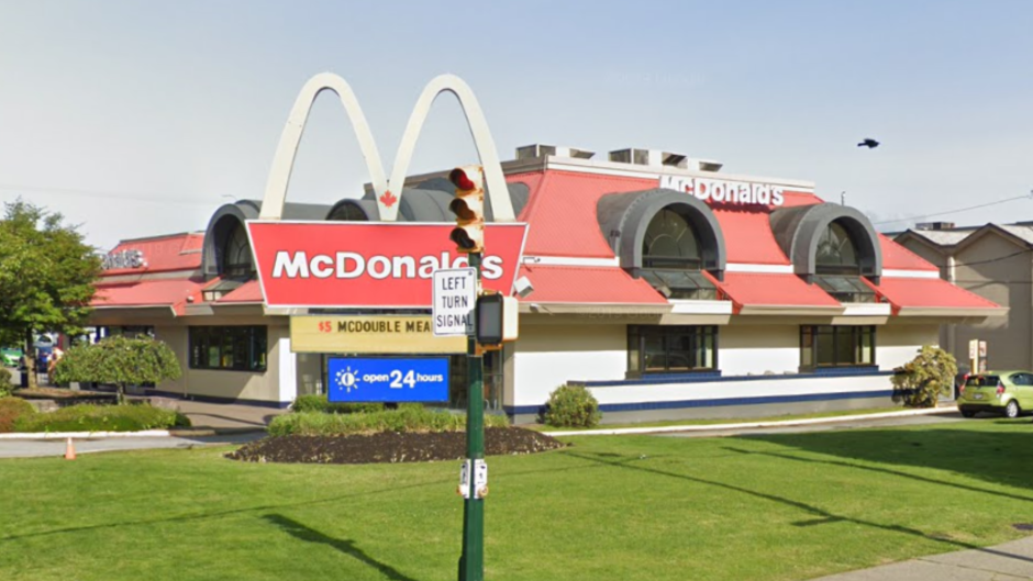 McDonald's on Lougheed Highway in Vancouver. (Google Maps)