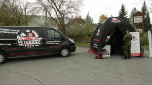 The Coding for Veterans Caravan made a stop in Kingston, Ont. on Tuesday, Oct. 27, 2020. (Kimberley Johnson / CTV News Ottawa)