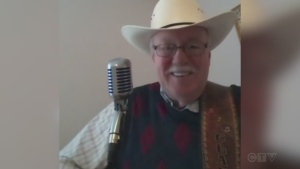 Sudbury musician Claude St. Germain performs old Moe Bandy country song 'Here I am Drunk Again.'