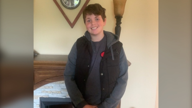 Deklan Fitzgerald, 13, of Holland Landing was reported missing on Mon., Oct. 26, 2020. (Supplied)