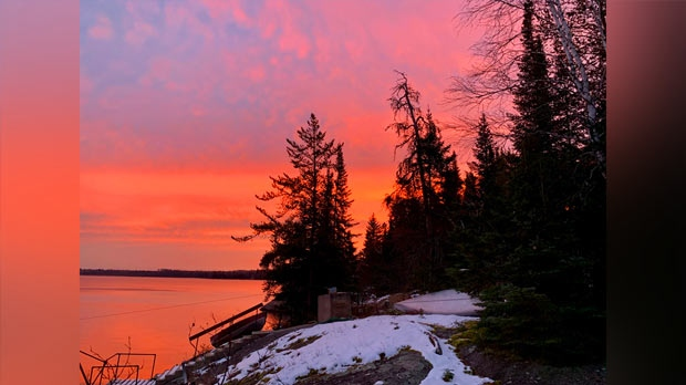 Sunrise at Dorothy Lake. Photo by Shawn Trotter.