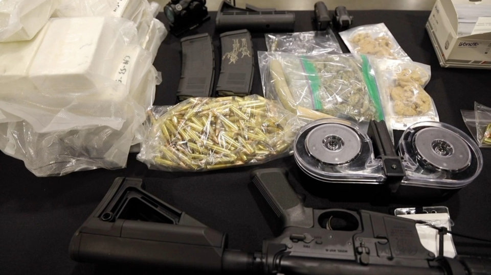 US border guns seized
