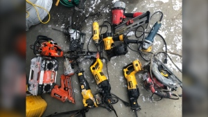 RCMP's Southern Alberta District Crime Reduction Unit recovered stolen hand tools.
