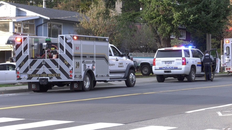 Emergency crews rushed to a home on Anderton Road at 4:45 p.m. Monday for reports of an industrial accident. (CTV News)