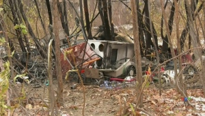 Homeless camp destroyed in morning fire