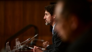 Prime Minister Justin Trudeau provides an update on the COVID pandemic in Ottawa on Tuesday, Oct. 27, 2020. THE CANADIAN PRESS/Sean Kilpatrick