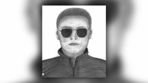 Calgary Police released this sketch of a suspect of a sexual assault in West Hillhurst