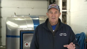 """""""I figured out I have driven from here to Vancouver, back to Dominion, back to Vancouver, and I'm almost back in Dominion again,"""" Mickey McNeil said of hi 40-year career driving the Zamboni at the rink in Dominion, N.S."""