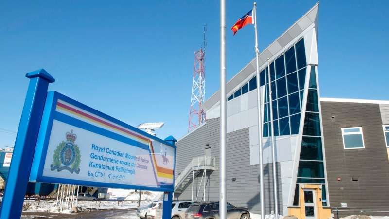 The Royal Canadian Mounted Police office is seen Saturday, April 25, 2015 in Iqaluit, Nunavut. (THE CANADIAN PRESS / Paul Chiasson)